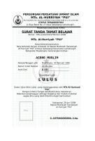 SURAT TANDA TAMAT BELAJAR (Ijazah Lokal).doc