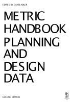[Architecture Ebook] Metric Handbook Planning and Design Data.pdf