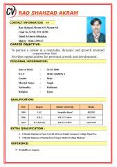 Rao Shahzad AkramCV.doc