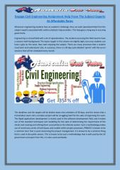 Engage Civil Engineering Assignment Help From The Subject Experts At Affordable Rates.pdf