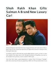Shah Rukh Khan Gifts Salman A Brand New Luxury Car.pdf