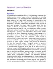 Agriculture and Economics.docx
