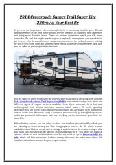 2014 Crossroads Sunset Trail Super Lite 220rb As Your Best Rv.doc