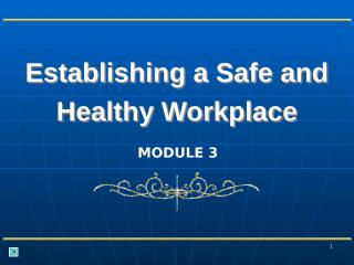 How to establish a Safe and Healthy Workplace.ppt
