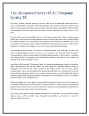 The Unexposed Secret Of AC Company Spring TX.doc