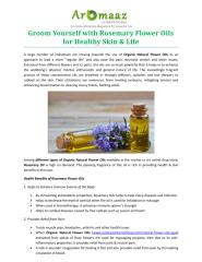 Groom Yourself with Rosemary Flower Oils for Healthy Skin & Life.pdf