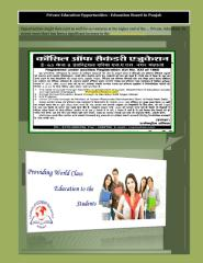 Private Education Opportunities - Education Board In Punjab.PDF