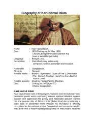 Biography of Kazi Nazrul Islam.rtf