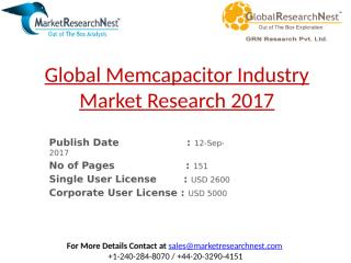 Global Memcapacitor Industry Market Research 2017.pptx